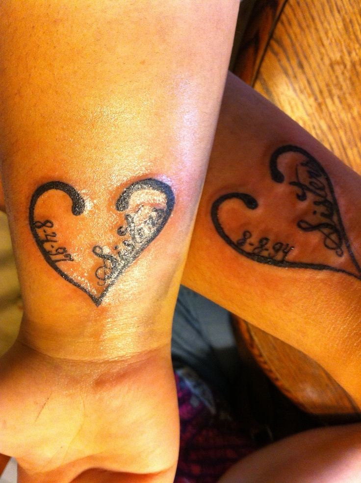 Matching sister tattoos for 3 me and my sister got matching