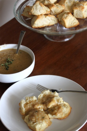 More like this: white beans , sweet potato biscuits and gravy .