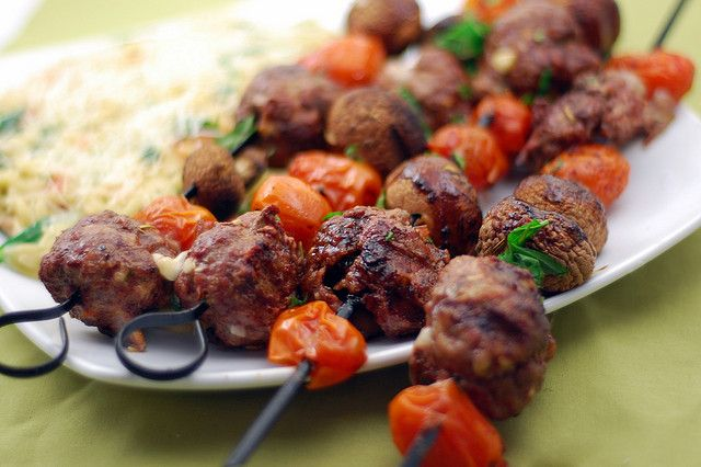 fontina stuffed grilled meatballs by Pink Parsley Blog, via Flickr