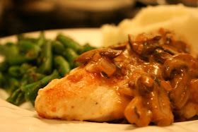 Chicken Breasts with Mushroom Sage Sauce #food #nomnom #recipes