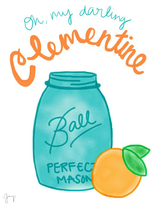 oh my darling clementine   illustration   Pinterest