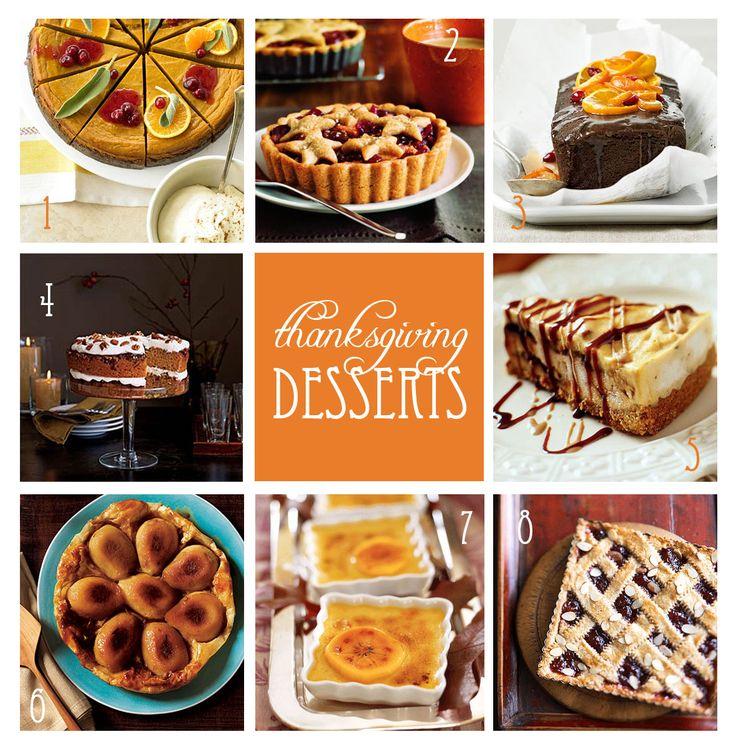 Thanksgiving Dessert Ideas Seasonal Treats Pinterest