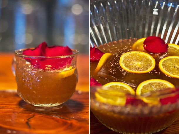 Mistletoe Punch: 1 (750 milliliter) bottle cognac 12 ounces (1 1/2 ...