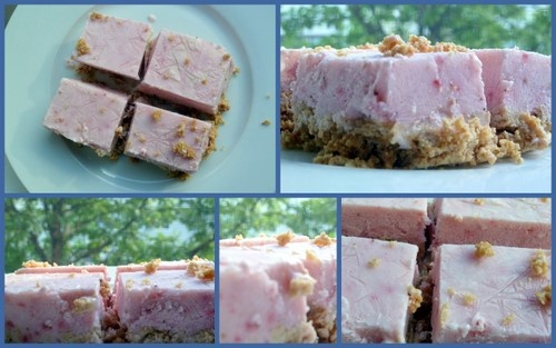 Frosty Strawberry Squares Recipe — Dishmaps