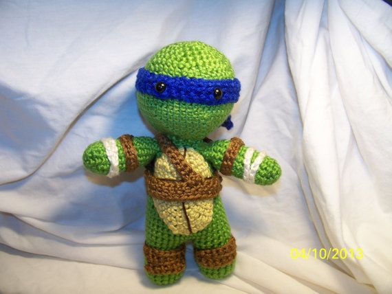 Crochet Teenage Mutant Ninja Turtle crochet turtle