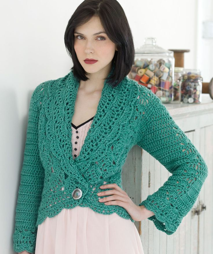 Filigree Cardigan free crochet pattern Crochet Womens ...