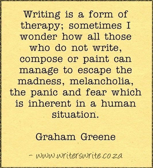 Writing therapy