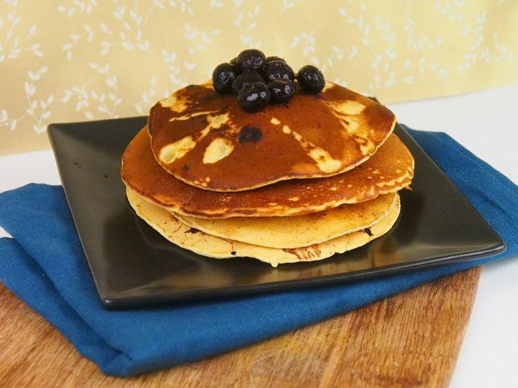 Vegan Blueberry Cornmeal Pancakes | paleo/clean eating/whole foods/al ...