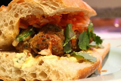 Pork Meatball Banh Mi | Burgers and Sandwiches | Pinterest