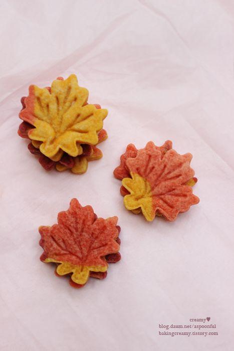 maple leaf cookies baking101 ,단풍잎 쿠키 | ♥ It's me ...