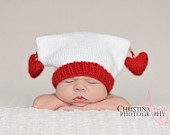 Heart Hand Knit Hat for Babies