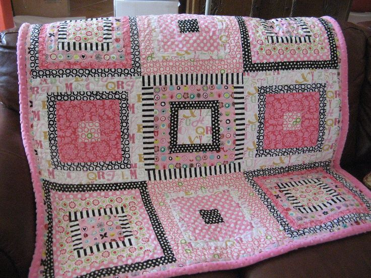 Baby Girl Patchwork Quilt Personalized Baby Quilt Custom