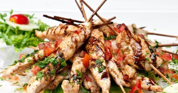 Grilled Chicken Fajita Kabobs Recipe — Dishmaps