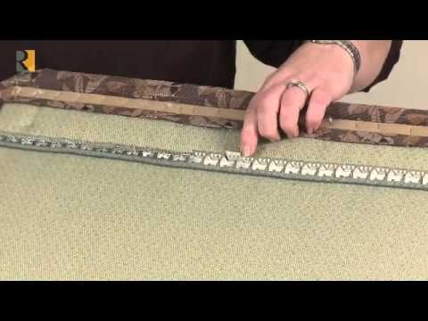 How to use uphostery tack strip