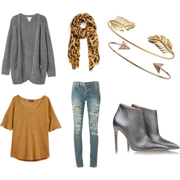 """autumn greys"" by lenahcaruana on Polyvore"