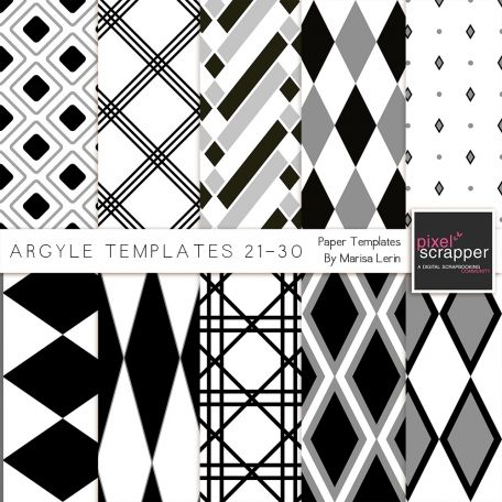 ... Paper Templates 21-30 Kit | Pixelscrapper template wishlist