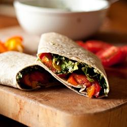 Garden Veggie Wraps | Home Cookin' | Pinterest
