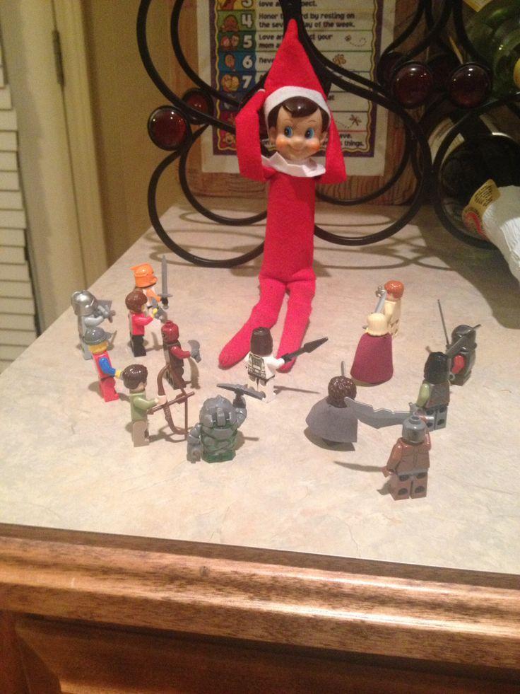 Elf on the shelf, under attack | ben | Pinterest