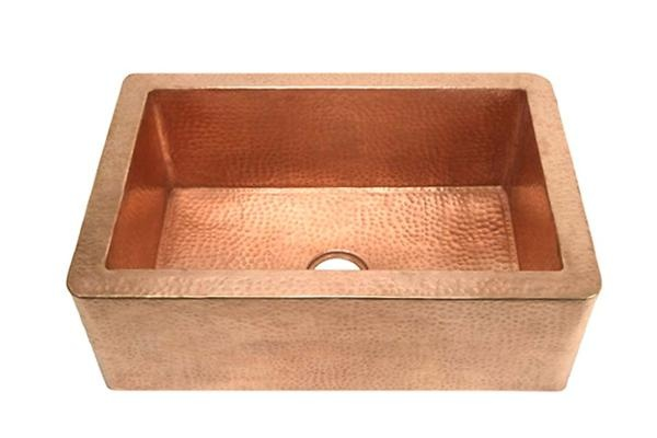 Small Single Well Copper Farmhouse Sink  House  Kitchen ideas  Pin