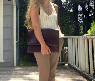 DIY: Faux Leather Envelope Clutch