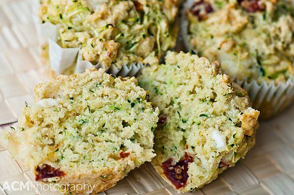 Zucchini, Sun-dried Tomato and Halloumi Cheese Muffin Recipe
