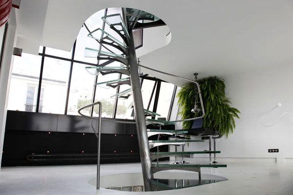 escalier-colimaçon-design  Stairs  Pinterest