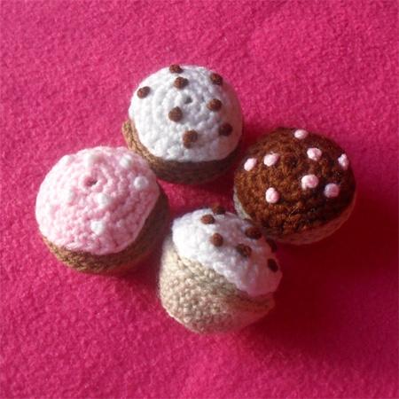 Mini Crochet Cupcake Crochet Geek - YouTube