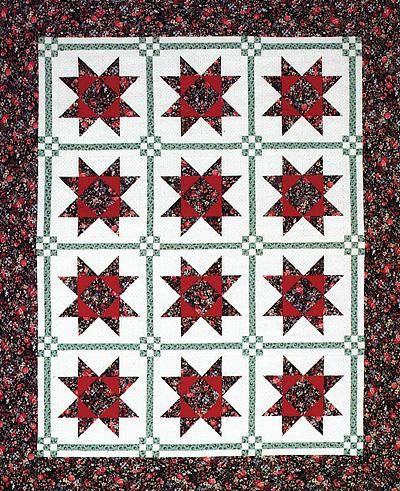 Free Star Flower Quilt Patterns : Star Flower Quilt Sewing/Quilt Projects Pinterest