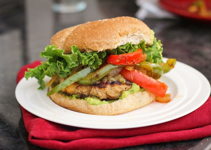 Chicken (or Turkey) Fajita Burgers - Once upon a cutting board