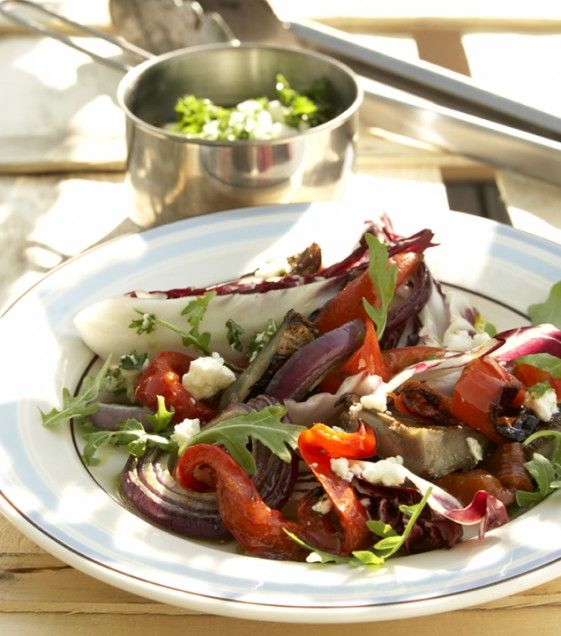 Grilled Artichoke, Arugula, and Radicchio Salad | Salads | Pinterest