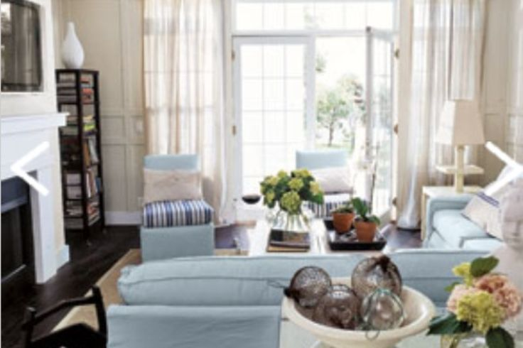 Coastal Beach House Living Room Design Pinterest