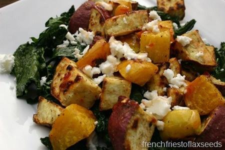 Roasted Sweet Potato & Beet Salad | yum | Pinterest