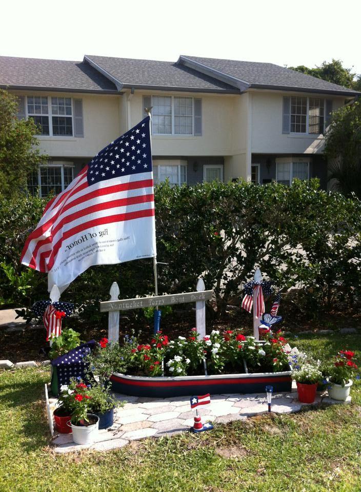 memorial day garden flags