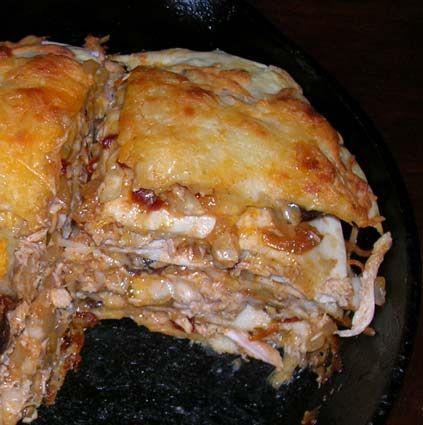 Stacked Chicken Enchiladas... | Chicken...next please... | Pinterest