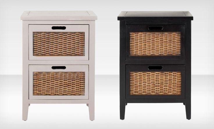 Nightstands with wicker panels | Home Decor | Pinterest