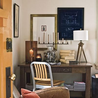 Use Blueprints as Art | Framed art doesn't have to be a painting or a photograph. | SouthernLiving.com
