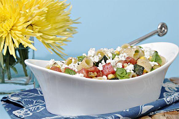 pasta salad with heirloom tomatoes, pan-roasted zucchini, fresh corn ...