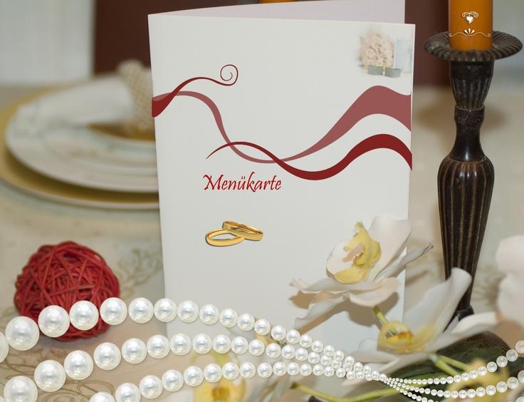 Hochzeit Menuekarten.  Menükarten für Hochzeit.  Pinterest