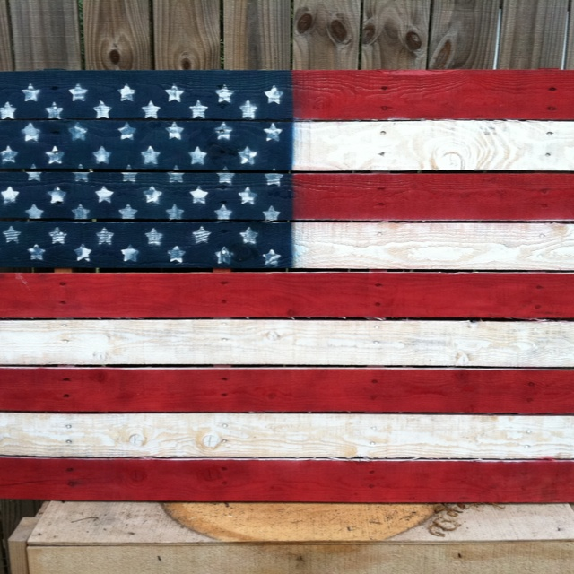 American flag pallet diy projects pinterest - American flag pallet art ...