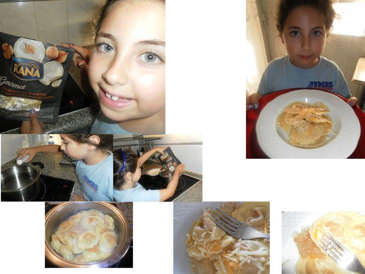 pastas frescas, giovanni rana, treemkt, blog soloyo,  ravioli atún y tomate Giovanni Rana: gourmet: Queso de Cabra y cebolla caramelizada. Son 250 gramas. Para un adulto y un niño bien, para dos adultos se queda escaso. Habría que utilizar alguna salsa porque queda un poco seco. De sabor y textura buenísimo. Le hemos añadido algo de queso y cebolla caramelizada