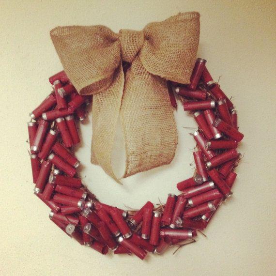 Shotgun Shell Wreath. for the rednecks in my life :)