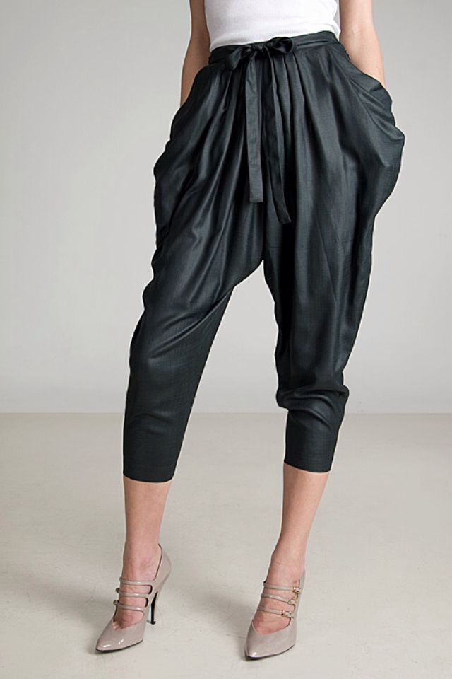 Parachute pants are a style of trousers characterized by the use of nylon, especially ripstop nylon. In the original tight-fitting style of the early s,