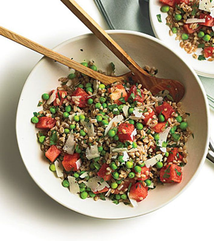 Summer Pea, Watermelon, and Farro Salad | Food & Drink | Pinterest