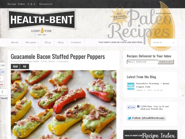 Guacamole Bacon Stuffed Pepper Poppers | paleo foods | Pinterest