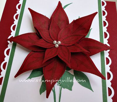 Paper Poinsettia with Stampin Up punch | Christmas | Pinterest