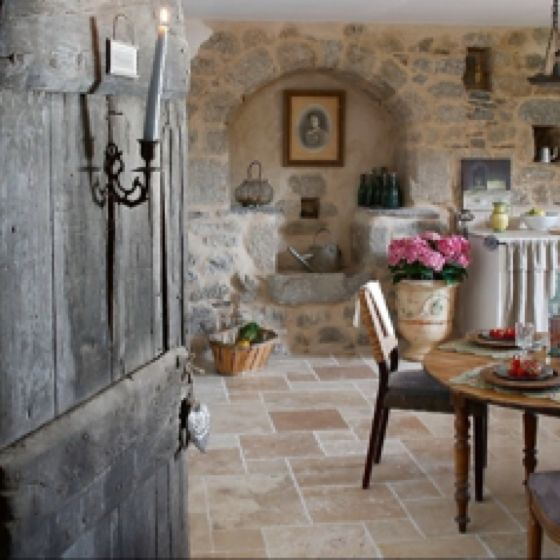 Cottage Kitchen Flooring Continued: French Country