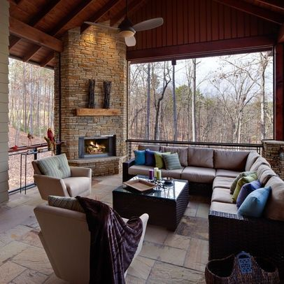 CORNER FIREPLACES: SCREENED PORCH CORNER FIREPLACE