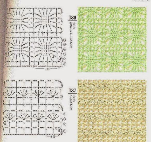 Вязание спицами узора паучки 1