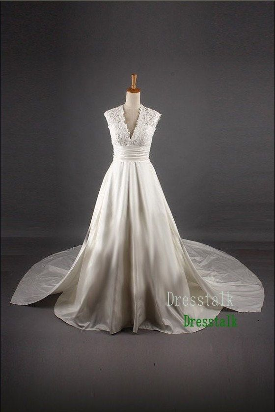 Plus Size Wedding Dresses With Empire Waist : Empire waist lace taffeta wedding dress plus size ball gown