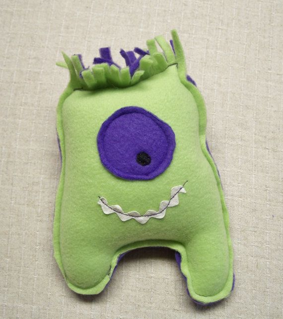 Monster baby small plush fabric monster doll purple for Baby monster fabric